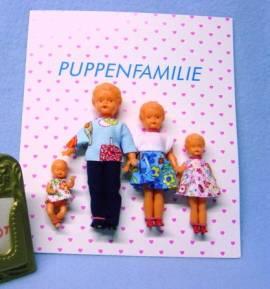 Puppenstubenpuppen Puppenstuben Puppen 4-köpfige Puppen Familie von Schwenk 15410 - Bild vergrößern