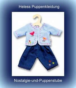 Puppen Jungs Hose Jeanshose Latzhose Jacke Weste für 28 - 35 cm Puppen Heless 1504 - Bild vergrößern
