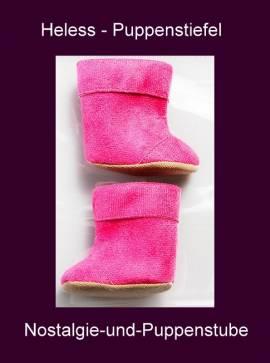 Heless Puppenkleidung, Puppenschuhe, pinkfarbene Stiefel für 38 bis 45 cm Puppen - Bild vergrößern