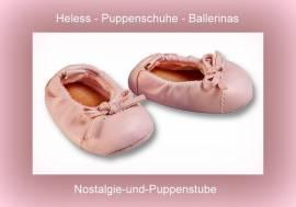 Heless Puppenkleidung Puppenschuhe rosa Ballettschuhe 7 cm lang  345 - Bild vergrößern