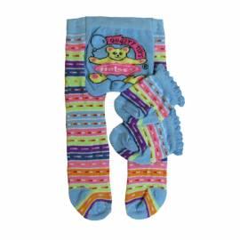 Heless Puppenkleidung hellblau geringelte Strumpfhose mit Söckchen für 35 bis 45 cm Puppen - Bild vergrößern