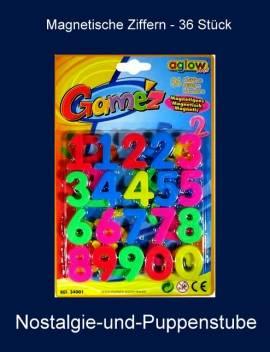 Kreativspielzeug, bunte magnetische Ziffern, 36 Stück - Bild vergrößern