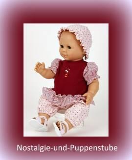 Schildkröt, Puppenkleidung für ca.50 cm große Babypuppen, 3-tlg. Set mit Hütchen - Bild vergrößern