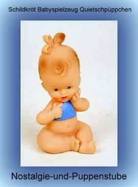 Quietschie Quietschpuppe Quietschpüppchen Baby mit Lätzchen Schildkröt 1053 - Bild vergrößern