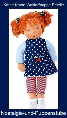 K�the Kruse Puppen, Waldorfpuppe Emelie mit roten Haaren, ca. 38 cm gro� - Bild vergr��ern