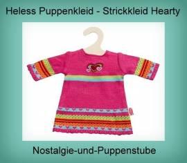 Heless Puppen Kleidung Strickkleid Modell Hearty für 28 - 35 cm Puppen 1533 - Bild vergrößern