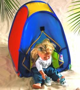 Puppen Zelt Spielzelt Campingzelt für Puppen bis 50 cm Heless 200 - Bild vergrößern