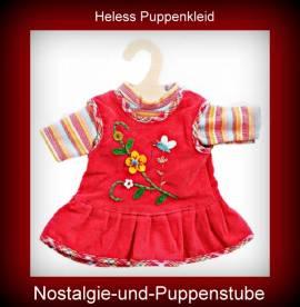 Heless Puppenkleidung für 35 cm bis 45 cm Puppen rotes Trägerkleid mit T-Shirt, Nr. 510 - Bild vergrößern