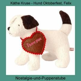Käthe Kruse Puppen Spielzeug Hund Oktoberfest Felix ca 19 cm groß 33287 - Bild vergrößern