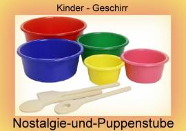 8-teiliges Kinder Sch�ssel-Set mit R�hrl�ffeln,Holz - Bild vergr��ern
