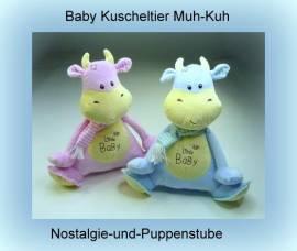 Kuschelweiches Baby Spielzeug - Schmusetier Muh-Kuh, ca. 25 cm groß - Bild vergrößern