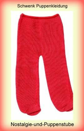 Schwenk Puppen Kleidung Strümpfe Strumpfhose rot für 30 cm - 33 cm Puppen 4232 - Bild vergrößern