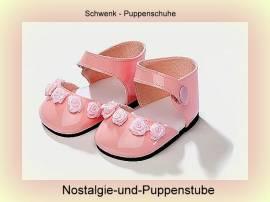 Schwenk Puppenkleidung Puppenschuhe rosa Lackschuhe für 28 - 32 cm Puppen 1032 - Bild vergrößern