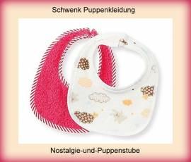 Schwenk Puppenkleidung, Lätzchen im Doppelpack, für 42 - 45 cm Puppen - Bild vergrößern