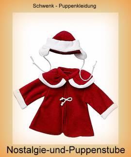 Schwenk Puppenkleidung, Wintermantel mit Mütze  für 46 - 50 cm Puppen - Bild vergrößern