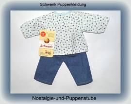 Schwenk Puppenkleidung, 2 - teiliger bunter Spielanzug, für 36 - 40 cm Puppen - Bild vergrößern