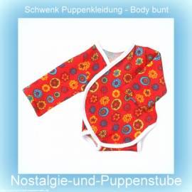 Schwenk Puppenkleidung, Body Langarm, bunt, für 46 - 50 cm große Babypuppen  - Bild vergrößern