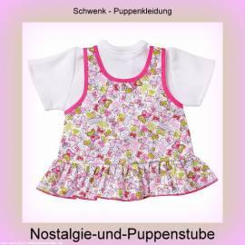 Schwenk Puppenkleidung, Kleid mit Shirt für 42 - 45 cm Puppen - Bild vergrößern