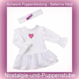 Schwenk Puppenkleidung Ballett, Ballerina Kleid mit Stirnband für 46 - 50 cm Puppen - Bild vergrößern