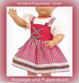 Puppen Kleid Dirndl Trachtenkleidung für 46 cm Puppen Schildkröt 46550 - Bild vergrößern