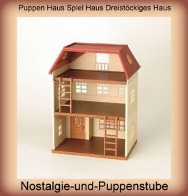 Puppen Haus Spiel Haus Dreistöckiges Haus Spielzeug Puppen Zubehör Sylvanian Families - Bild vergrößern