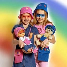 Heless, 2 Sonnenbrillen gelb, 1x für Puppenmutti 1x für Puppe - Bild vergrößern