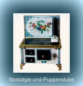 Schopper 11894 Miniaturherd Oldtimer Nostalgie Herd aus Blech Maßstab 1:12 - Bild vergrößern