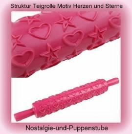 Teigroller, Struktur Teigrolle zur Verzierung von Backteig oder Modelliermasse - Bild vergrößern