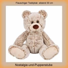 Kuscheliger weicher Teddybär, sitzend 30 cm groß - Bild vergrößern