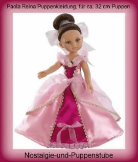 Paola Reina Bekleidung Prinzessin Kleid pink mit Schuhen für 32 - 34 cm Puppen, Nr. 74573 - Bild vergrößern