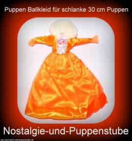 Modepuppen Kleidung, Prinzessinnen Kleid, Ball Kleid, in sonnengelb für 30 cm Puppen - Bild vergrößern