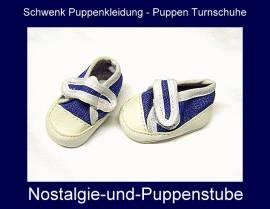 Puppenkleidung Puppenschuhe Puppen Turnschuhe Emil Schwenk für Puppen von 36 - 40 cm - Bild vergrößern