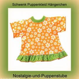 Schwenk Puppen Kleidung Kleid Hängerchen orange für 30 - 33 cm Puppen  10032c - Bild vergrößern