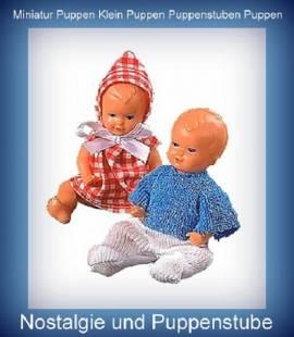 Puppenstuben Puppen Puppenhaus Puppen Klein Puppen Plastik Baby Puppen 6 cm 2er-Set von Emil Schwenk - Bild vergrößern
