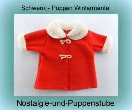 Schwenk Puppenkleidung Puppen Wintermantel rot  für 28 - 35 cm Puppen  38332 - Bild vergrößern