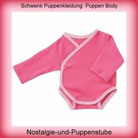 Schwenk Puppenkleidung, Body Langarm pink, für 46 bis 50 cm große Babypuppen  - Bild vergrößern
