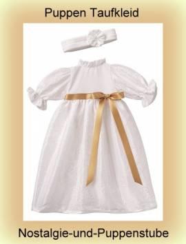 Puppen Kleidung Taufkleid mit Stirnband für 30 - 33 cm Puppen Schwenk 62832 - Bild vergrößern