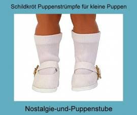 Puppen Kleidung Strümpfe Socken Kniestrümpfe weiß für 25 cm Puppen mit 4 cm Füßen, Nr. 17525 - Bild vergrößern