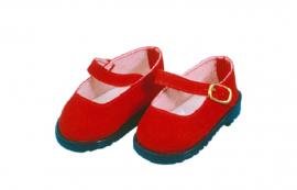 Puppen Kleidung rote Velourschuhe für 41 cm Puppen Schildkröt 41178 - Bild vergrößern