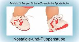 Puppen Schuhe Sportschuhe Freizeitschuhe Turnschuhe 9 cm Schildkröt 52181 r  - Bild vergrößern