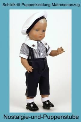 Schildkröt Puppe Hans 46 cm blond blaue Augen in Matrosenkleidung 8346124 - Bild vergrößern