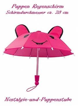 Puppen Regenschirm Sonnenschirm Stockschirm Schirm pink 1151 - Bild vergrößern
