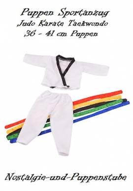 Puppen Judoanzug Karateanzug Sportanzug Set für 40 cm Puppen 1171 - Bild vergrößern