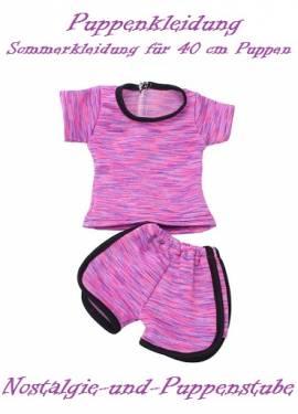 Puppen Kleidung Sommer Hose Shirt Set Bekleidung für 40 cm Puppen, Nr.1201 - Bild vergrößern
