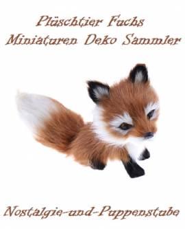 Miniatur Fuchs Fellimitat Fox Deko Artikel 15 cm lang 1219 - Bild vergrößern