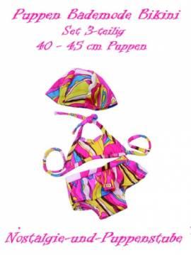 Puppen Kleidung Bikini Bademütze Bademode für 40 cm Puppen 1225 - Bild vergrößern