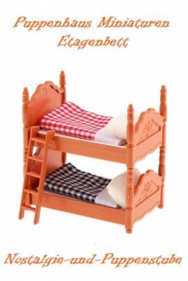 Puppenhaus Miniaturen Puppen Möbel Kinder Bett Etagenbett 1489 - Bild vergrößern