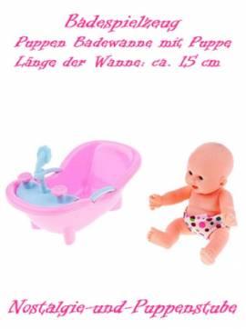 Badewanne für Puppen Puppenzubehör Puppenwanne Puppenspiel Puppe Puppenmöbel rosa  - Bild vergrößern