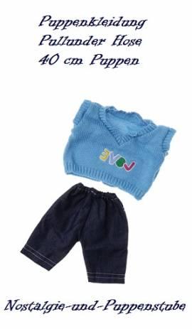 Puppen Kleidung Pullover Jeans Hose Set für 40 cm Puppen 20664 - Bild vergrößern