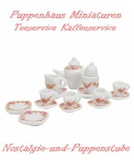 Puppenhaus Miniaturen Deko Teeservice Kaffeeservice 2139 a - Bild vergrößern